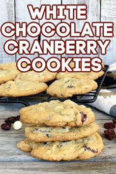 These white chocolate cranberry cookies are a holiday favorite. They are the best treat for family, friends, neighbors and teachers or just to snack on at home! White Chocolate Cranberry Cookies, White Chocolate Chips, Egg Free Desserts, Chocolate Morsels, Baking Flour, Food Allergies, Autoimmune, Holiday, Christmas