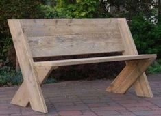 Here are a couple of DIY benches that would provide casual and attractive seating indoors or . Here are a couple of DIY benches that would provide casual and attractive seating indoors or outdoors. They would be easy to make, yet they . Diy Garden Furniture, Diy Furniture Easy, Diy Outdoor Furniture, Bench Furniture, Wooden Furniture, Furniture Plans, Furniture Stores, Cheap Furniture, Building Furniture