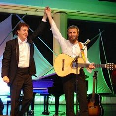 """""""Music can't change the world ..but it gives us an idea of what kind of world we want to develop."""" Yusuf Islam with Paul McCartney"""