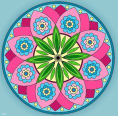"There is a blank coloring page of this entitled Mandala 506 on my other board ""Mandala Coloring Pages."""