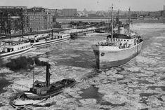 Haven Rotterdam (jaartal: 1950 tot - Foto's SERC Rotterdam, Back In Time, Old City, World War Ii, Sailing Ships, Netherlands, Holland, Scenery, Europe