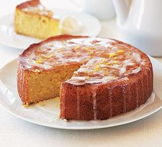 Really nice moist lemon drizzle cake. Also good done as 2 with thick layer of lemon butter cream icing!