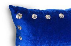 Blue Velvet Pillow Cover Royal Blue Decorative by AmoreBeaute