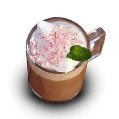 Bailey's Peppermint Cream from the Santuary Hotel: 2 oz. Baileys with a hint of Mint Chocolate, 4 oz. hot chocolate, ½ oz. crème de cacao, ¼ oz. crème de menthe, fresh whipped cream, candy cane, mint leaf; Crush candy cane with the back of a spoon. Pour hot chocolate and Bailey's Original Irish Cream into a coffee mug. Top with a dollop of whipped cream. Sprinkle crushed candy cane on top. Garnish with mint leaf.