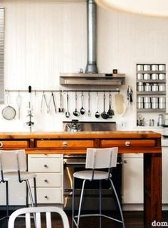 cooking utensils in easy reach