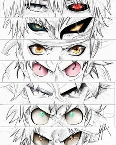 anime heroes Tokyo ghoul Bleach Naruto One piece Dragon ball Boku no Otaku Anime, Anime Naruto, Manga Anime, Naruto Eyes, Manga Eyes, Draw Eyes, Bleach Anime, Bleach Art, Anime Sexy