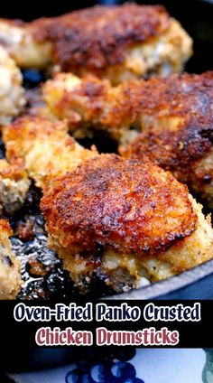 Looking for Fast & Easy Chicken Recipes, Main Dish Recipes! Recipechart has over free recipes for you to browse. Find more recipes like Oven-Fried Panko Crusted Chicken Drumsticks. Oven Fried Chicken, Crusted Chicken, Cheesy Chicken, Crispy Baked Chicken, Breaded Chicken, Boneless Chicken, Garlic Chicken, Chicken Drumstick Recipes, Chicken Recipes