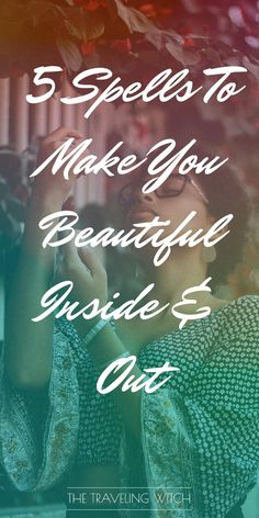 5 Spells To Make You Beautiful Inside & Out // Witchcraft // Magic // The Traveling Witch Beautiful Witch, Makes You Beautiful, Beautiful Inside And Out, Witchcraft Spells For Beginners, Magick Spells, Wiccan Witch, Glamour Spell, Beauty Spells, Witch Bottles