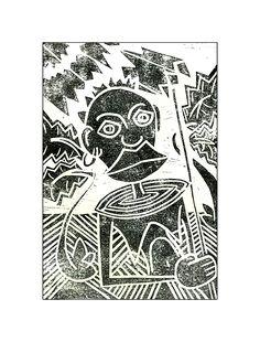 "linoleum cut ""maria magdalena black"" by andreas gleich© Andreas, Artist, Cards, Black, Art, Black People, Maps, Artists"