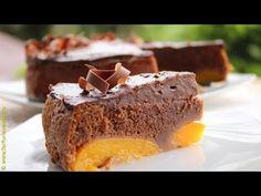 Prajitura cu piersici si blat cu cacao   Farfuria vesela - YouTube No Cook Desserts, Something Sweet, Deserts, Homemade, Make It Yourself, Baking, Food, Youtube, Key Lime Pound Cake