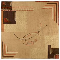 Square French Art Deco Rug | From a unique collection of antique and modern western european rugs at https://www.1stdibs.com/furniture/rugs-carpets/western-european-rugs/