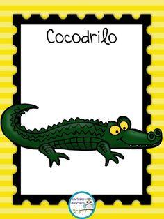 Animals And Pets, Cute Animals, Alfabeto Animal, Spanish Vocabulary, Colouring Pics, Classroom Rules, Cartoon Pics, Animal Crafts, Spanish Language