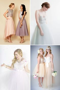 The Tulle Skirt  - The Hottest Look for Bridesmaids in 2015 - here's where to find the prettiest tulle skirts or your ladies - check out the rest on  www.onefabday.com