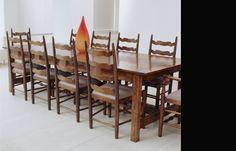 Gathering Table - French oak - 'Light oak' French polish finish