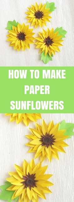 How to Make Paper Sunflowers | Easy Paper Craft #sunflowers #papercraft #paperflowers #craft
