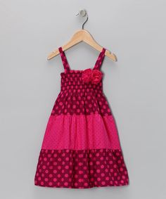 Take a look at this Deep Fuchsia Smocked Dress - Toddler by Penelope Mack on #zulily today!