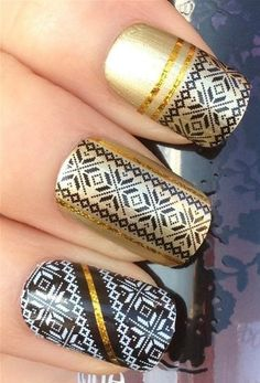 Women's #Beauty #Products: #Cosmetics / Makeup: NiceDeco - nail stickers nail tattoo nail decal water transfers decals black & white diamond/shaped lace #DIY #Nailart: Health, Skin, and Personal Care