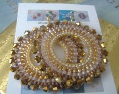 Aretes de perlas bronce diosa II semilla cristal aretes de perla