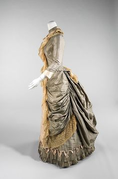 Date: 1880 Culture: American Medium: silk Dimensions: Length at CB (a): 26 in. (66 cm) Length at CB (b): 42 1/2 in. (108 cm)