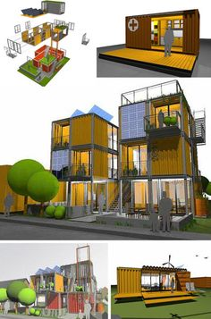 Cool Cargo: 45 Prefab & Shipping Container Home Designs Prefab Shipping Container Homes, Shipping Container Buildings, Cargo Container Homes, Shipping Container Home Designs, Building A Container Home, Container House Design, Shipping Containers, Container Houses, Container Cabin