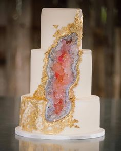 I am SO honored beyond words to see this gorgeous geode cake that I created featured on @wedding_style alongside many other beautiful cakes! Thank you @clairemarika for taking this perfect photo of it! via @AOL_Lifestyle Read more: http://www.aol.com/article/2016/07/08/stunning-new-wedding-cake-trend-taking-over-instagram/21427310/?a_dgi=aolshare_pinterest#fullscreen