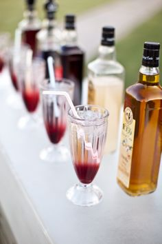 Keep your guests busy with an Italian Soda Bar! Wish I did this at my wedding!