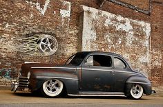 Bidding Endind SOON!!! Current BID $30,700 - 1948 FORD HOT ROD RAT STREET COUPE PATINA AIR RIDE BAGGED RESTOMOD PRO TOURING