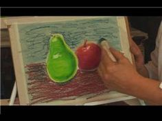 Oil Pastel Techniques : How to Use Oil Pastels for a Background