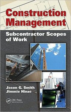 Construction Management: Subcontractor Scopes of Work