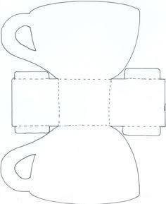 Resultado de imagem para templates for paper tea cups