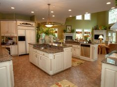 Wide open kitchen with island. 2113 Club Vista Place | Louisville Jefferson County Single Family Home for Sale Details