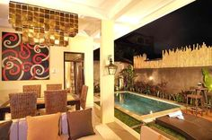 A brand new 3 bedroom villa is in a fantastic location, just 20m off the main Legian Seminyak strip