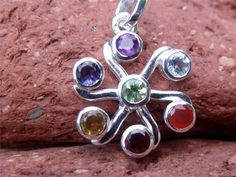 CHAKRA SILVER PENDANT 925 INDIAN SILVER HANDCRAFTED JEWELLERY SILVERANDSOUL