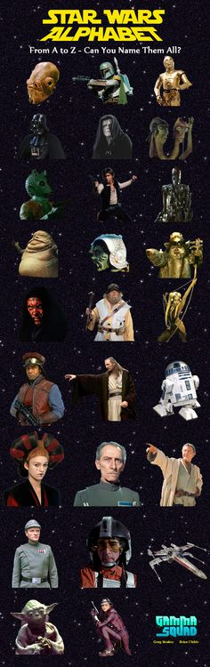 Star Wars, Admiral Gial Ackbar,bobafett,c3p0,darth vader,emperor,hammerhead,greedo,han solo,ig88,jaba the hutt,darth maul,yoda,x wing fighter,watto,general,princess