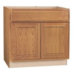 """ZEE MANUFACTURING CBKB36-MO Medium Oak Finish Assembled Base Cabinet, 36"""" by 34.5"""" by 24"""". Assembled base cabinet. Easy to use. This product is manufactured in China."""