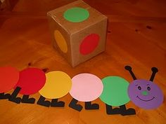 Caterpillar Transition Game...but what a great idea for a building game.
