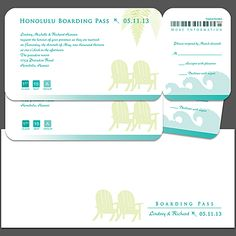 Beach Weddings - Boarding Pass Invitations - The Perfect Boarding Pass Wedding Invitations - Beach Wedlock News and Announcements