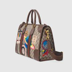 Gucci Gucci Courrier soft GG Supreme duffle bag Detail 2 Accessoires  Bagage, Accessoires Pour Femme ff04c7020d3