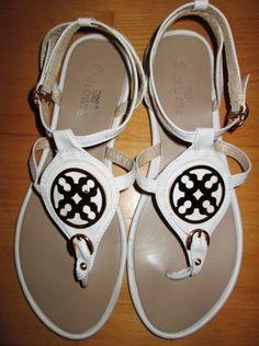 * * * CLOWSE Zehentrenner-Sandaletten weiß, Gr.39 * * * Strand, Sandals, Shoes, Fashion, Sun, Slide Sandals, Moda, Shoes Sandals, Zapatos