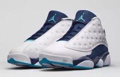 """Nike Air Jordan 13 XIII Retro Low  """"Hornets"""" White Navy OG 310810-107"""