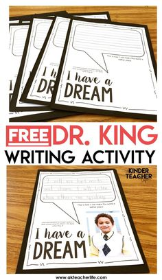 Free MLK Writing Activity - Students write how they can make the world a better place by their actions and words. Also includes a free sort worksheet. Students sort kind and unkind words. This is a engaging activity to honor the legacy of Dr. King!