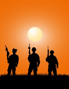 Silhouettes/our men in uniform, our hero's