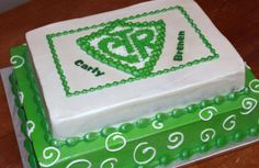 CTR baptism sheet cake