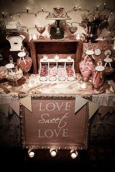 Candy Buffet.  (Add  www.customweddingprintables.com)