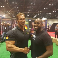 Took on the challenge by Mr. American Gladiator himself @MikeOhearn aka #Titan with his new training tool #FrogFitness..lots of fun and a great workout. had the chance to speak with him after he called me out..awesome humble indivudal...we will get that workout in California very soon ...if at IHRSA come check me out at @ActivMotionBar booth as well as @AssaultAirBike working out on Wednesday. .. #FitnessIsLife #YourNetWorthisInYourNetWork #TRX #ChallengeBringsChange  #FrazierFitness…