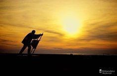 nice Fotografie »Am Deich Dorum Neufeld«,  #Dorum #Landleben #Sonnenuntergang