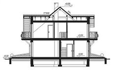 This four bedroom classic house design is an interesting proposition for people with medium-wide plot. The house has a typical shape, which greatly facilitates the construction process. Country House Plans, Small House Plans, Classic House Design, Micro House, Storey Homes, Bonus Rooms, Design Case, Contemporary, Modern