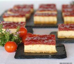 Tarta de queso y foie con mermelada de tomate