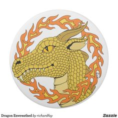 Dragon Enwreathed Eraser.  40% Off with code ZAZB2SAVINGS.  Offer is valid through July 31, 2017, 11:59 PM PT.  #Zazzle #eraser #dragon #dragon_head #dragon_profile #gold_dragon #golden_dragon