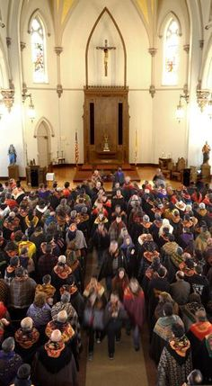 "Another of Jack Foley's favorites: ""I was able to get ahead of the Romeiros, and set up a camera on a tripod above them for a different view of this annual pilgrimmage.""At St. Joseph's Church, Romeiros make their way back to the streets of Fall River, headed to the next church on their list of Good Friday stops for prayer and reflection."